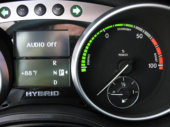 2010 Mercedes ML450 Hybrid insturment cluster display