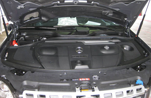2010 Mercedes ML450 Hybrid engine cover