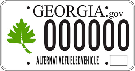 Georgia Alternative Fuel Tag