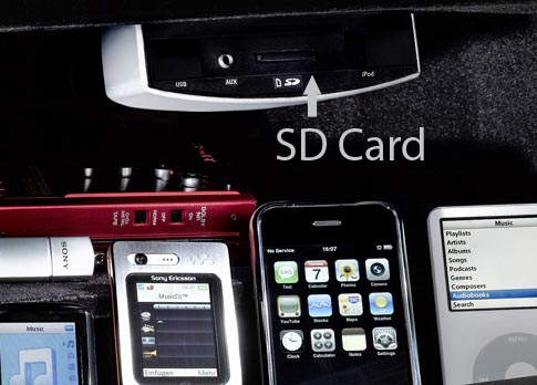 Mercedes AUX Update Devices USB iPod SD Card