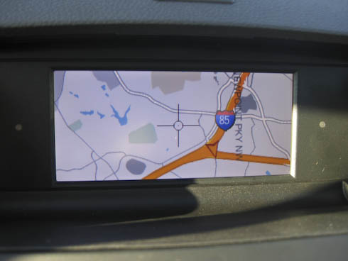 Mercedes UMI interface Navigation map